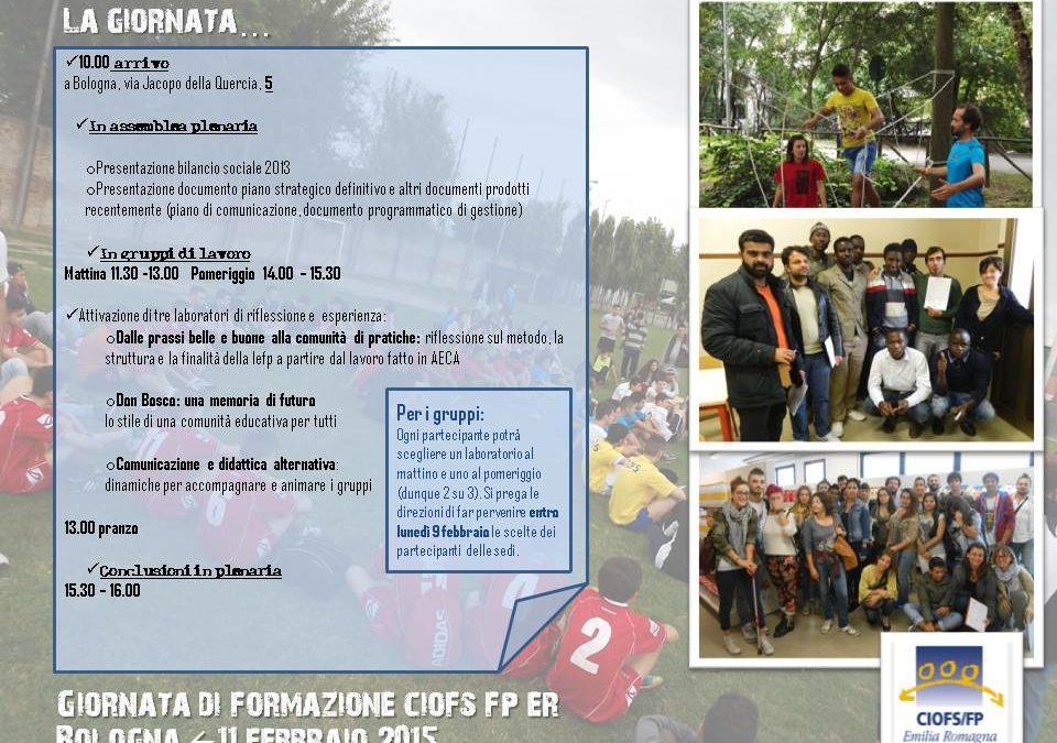 11 Febbraio – Giornata di formazione per il Ciofs Emilia Romagna