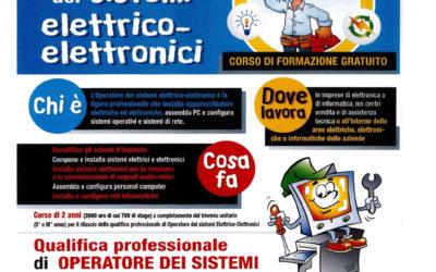 """diventa """"Operatore dei sistemi elettrico elettronici""""."""