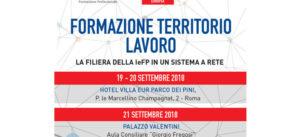 XXX SEMINARIO DI FORMAZIONE EUROPEA: FORMAZIONE-TERRITORIO-LAVORO : LA FILIERA DELLA IeFP IN UN SISTEMA A RETE
