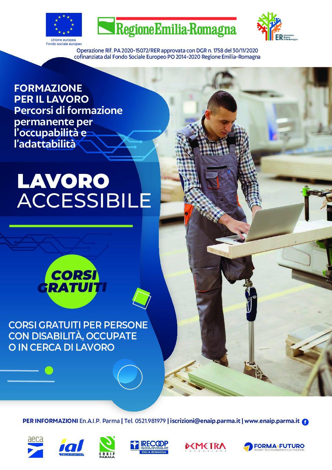 Percorsi di formazione permanente per l'occupabilità e l'adattabilità – ambito territoriale Parma