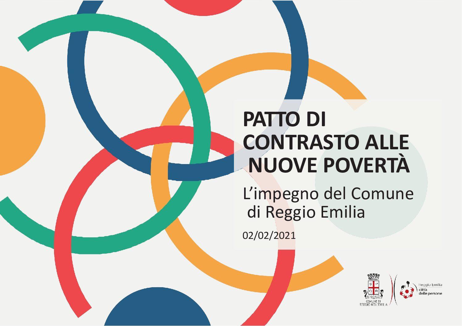 """CIOFS-FP sottoscrive a Reggio Emilia il """"Patto di Contrasto alle nuove povertà"""""""