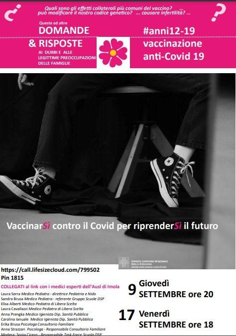 VACCINAZIONE ANTI-COVID 19 – INIZIATIVA ASL IMOLA